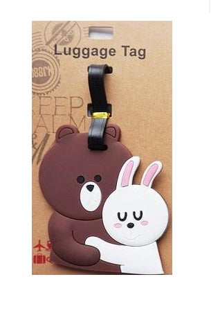 Brown and Cony Luggage Tag