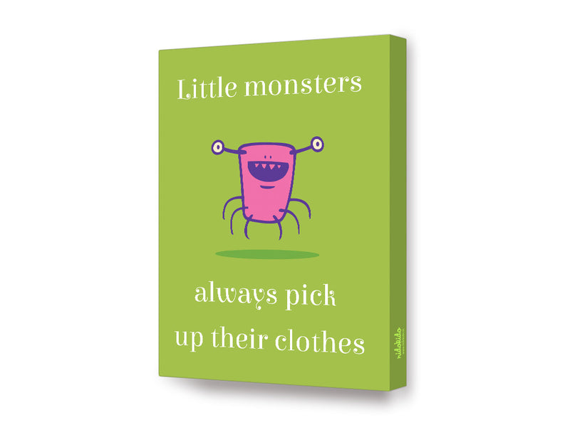 NidoKido Little Monster Series Pick Your Clothes Canvas Art