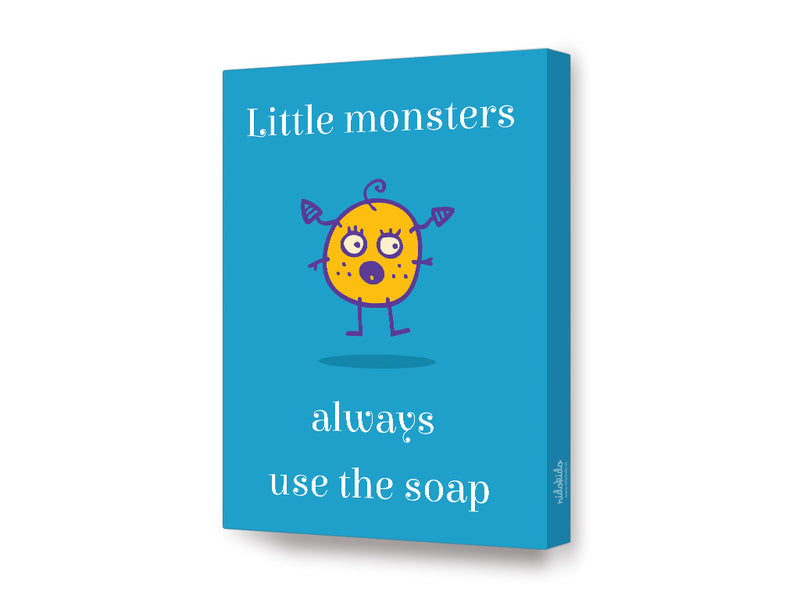 NidoKido Little Monster Series Use Soap Canvas Art