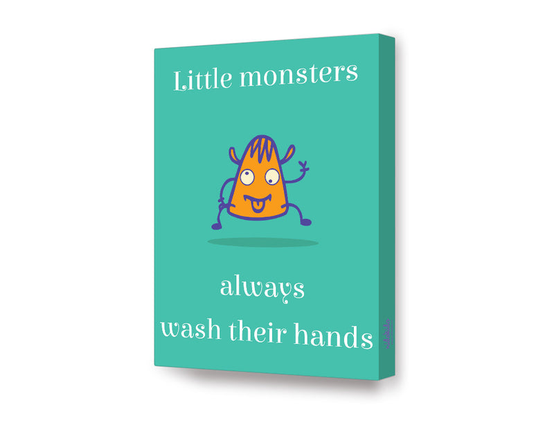 NidoKido Little Monster Series Wash Your Hands Canvas Art