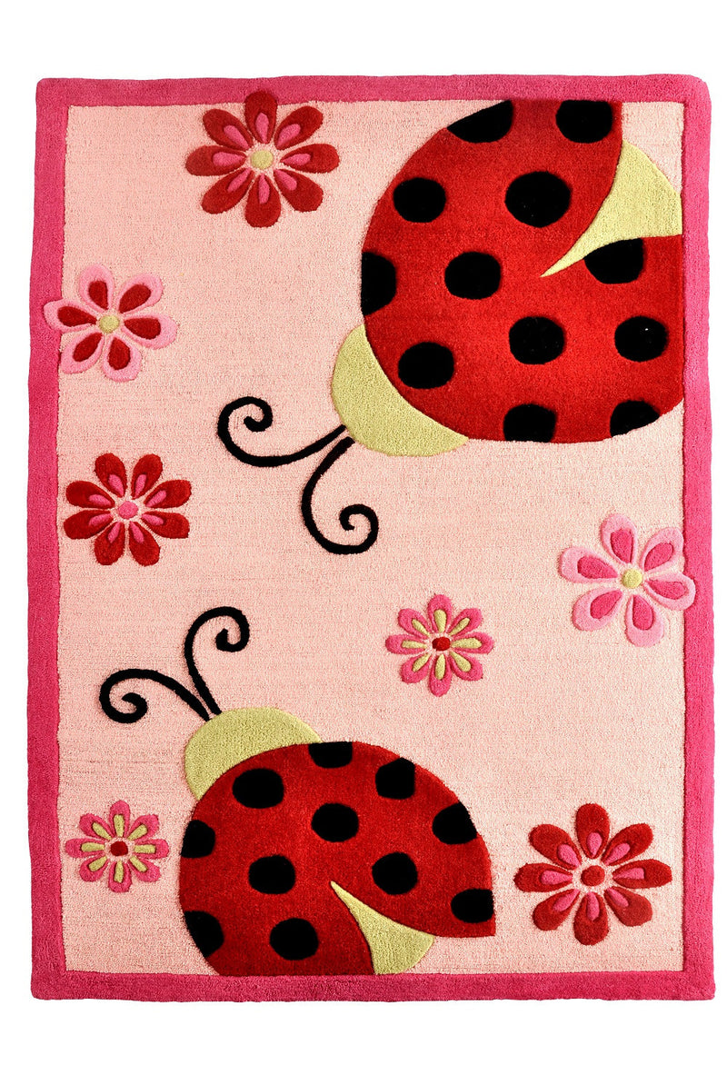 Littlelooms Lady Bug Kids Rug