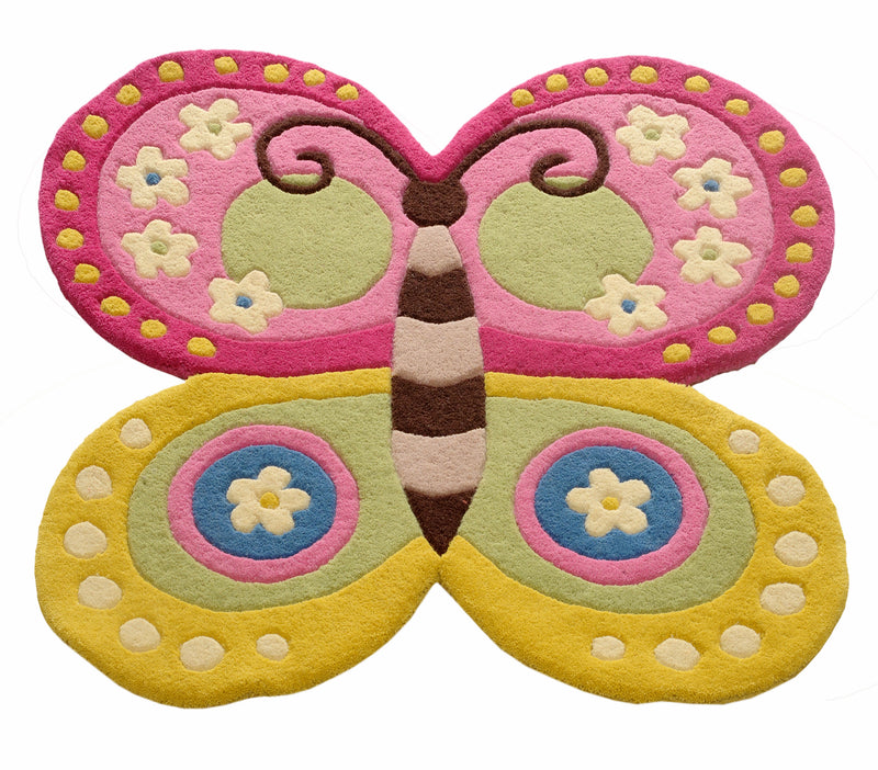 Littlelooms Butterfly Cut Out Kids Rug