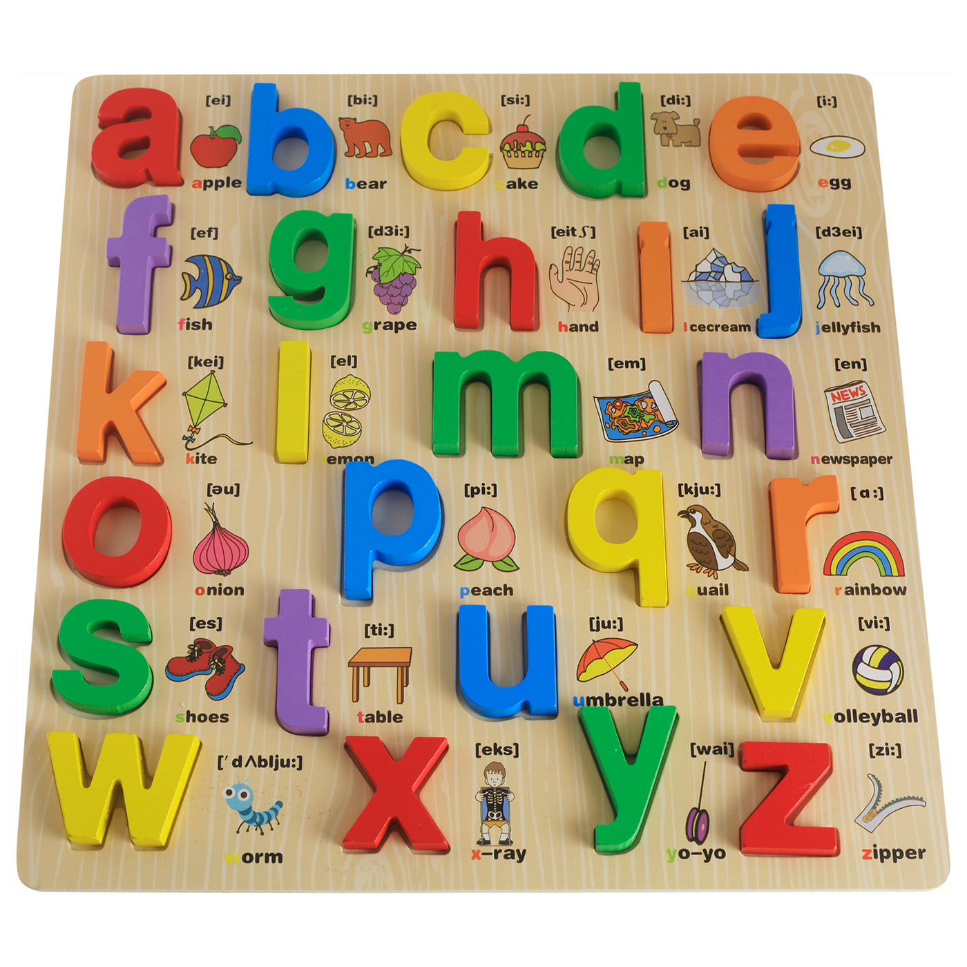 Munchkinz Wooden Shapes Alphabet Learning with Learning Puzzl