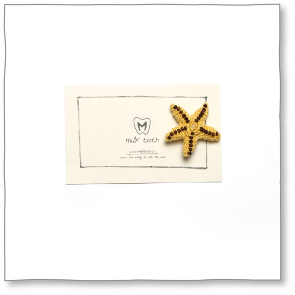 Milk teeth Kids' Mustard Starfish Brooch