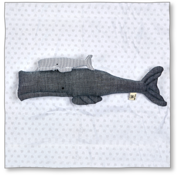 Milk teeth Kids' Whale Mum and Baby Plush Toy