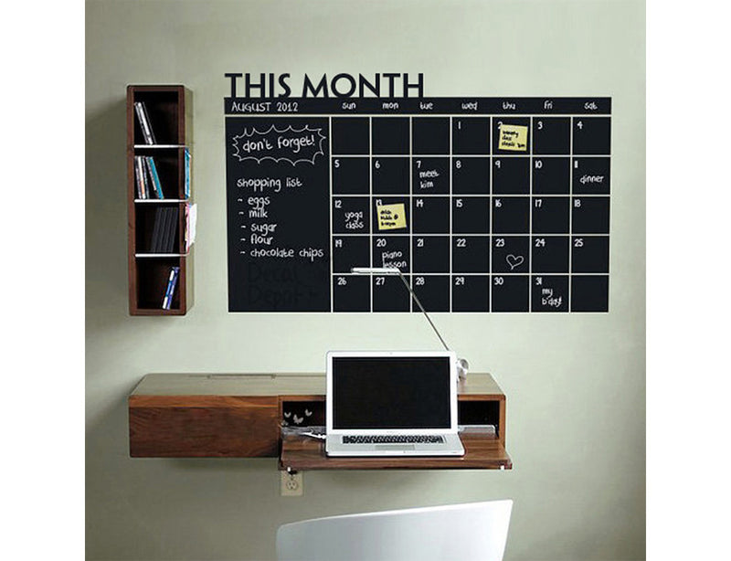 Nidokido Monthly Planner Chalkboard Wall Sticker