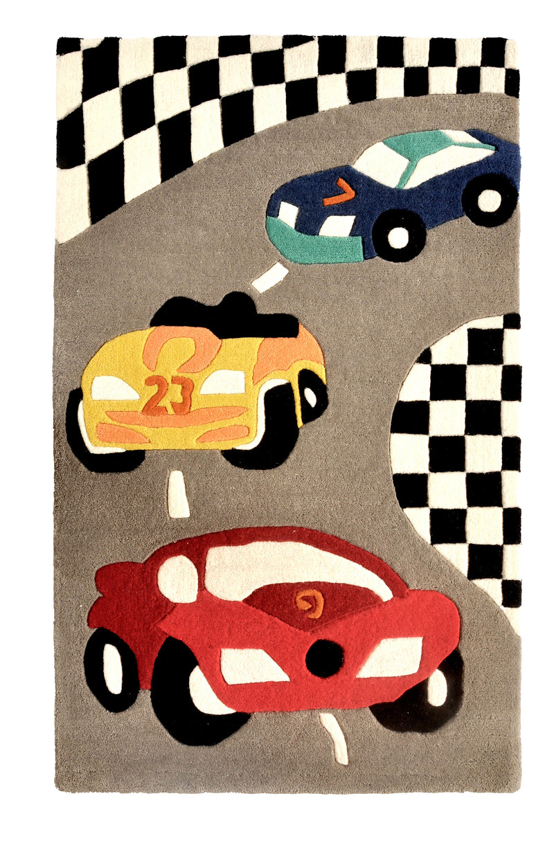 Littlelooms Race Cars Kids Rug