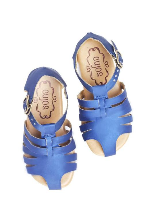 Cujos Vigo Blue Design Sandals