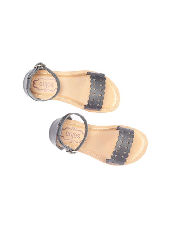 Cujos Petra Buckle Closure Sandals - Black