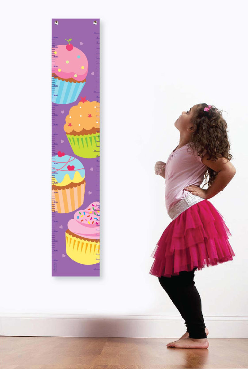 Nidokido Cupcake Printed Height Measurement Growth Chart