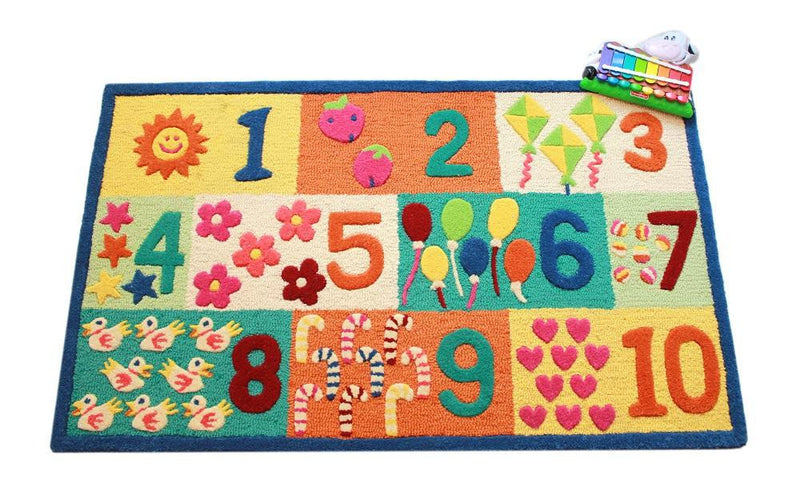 Littlelooms Blue Numbers Kids Rug