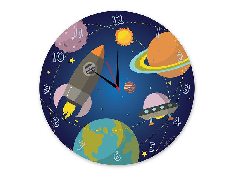 Nidokido Space Wall Clock