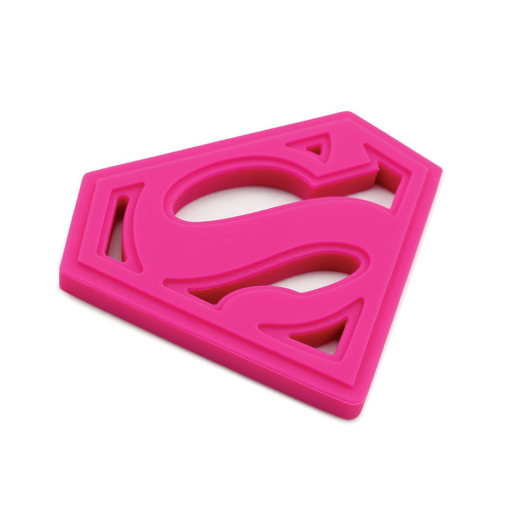 Munchkinz Kids Pink Superman Silicone Teether