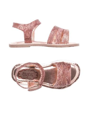 Cujos Baza Bling Bling Strap Design Sandals - Rose Gold