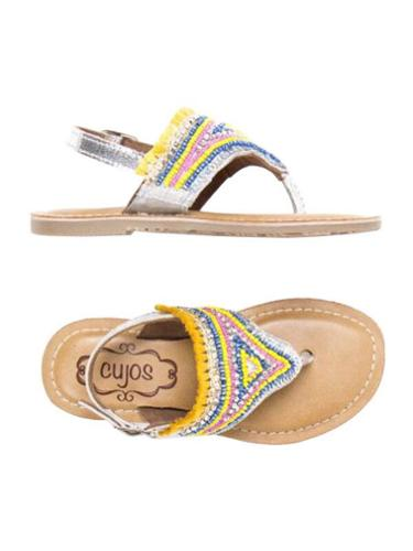 Cujos Ibiza Beaded Design Sandals - Yellow