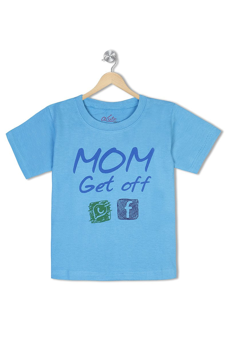 Acute Angle Mom Get off Wasapp & Facebook Toddler Tee