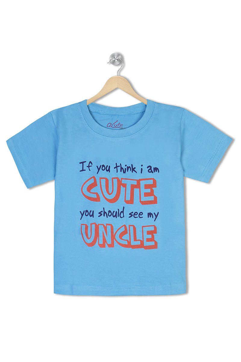 Acute Angle If you think I am cute you should see my uncle Toddler Tee
