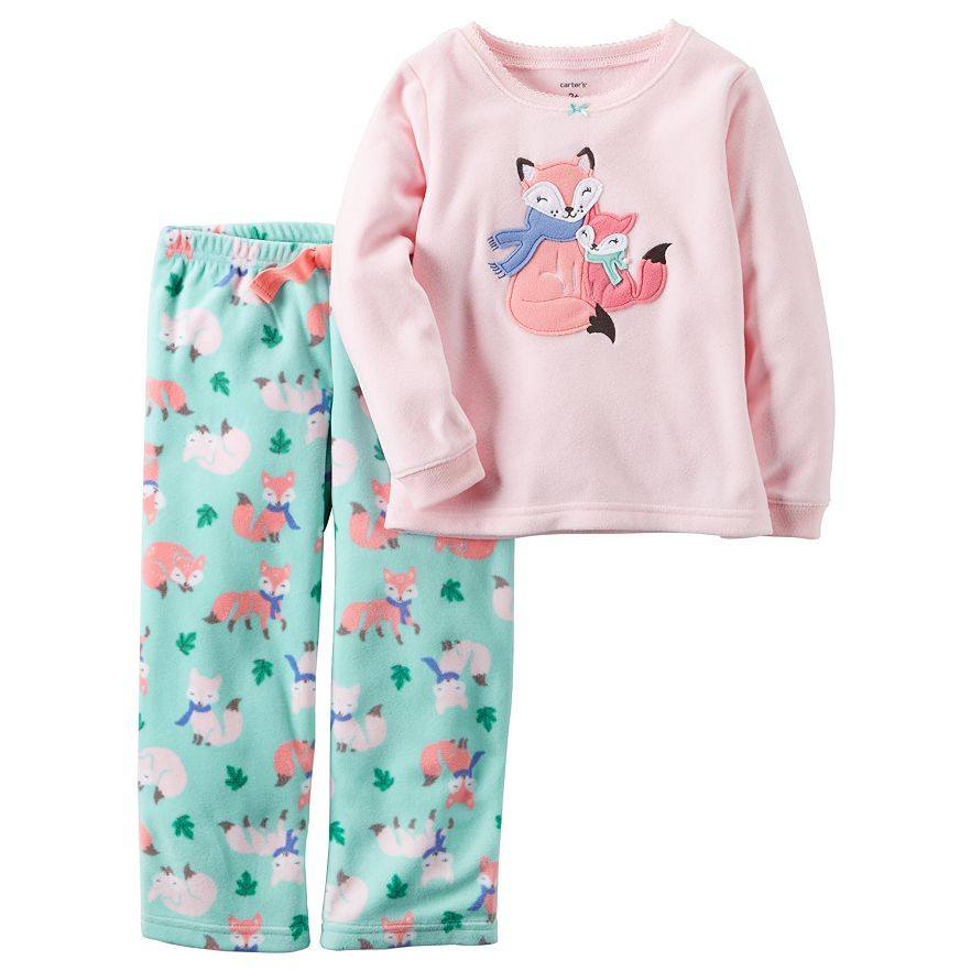 f1525794b Carter s Toddler Girls  Fleece Top and Pants Pajama Set – Munchkinz