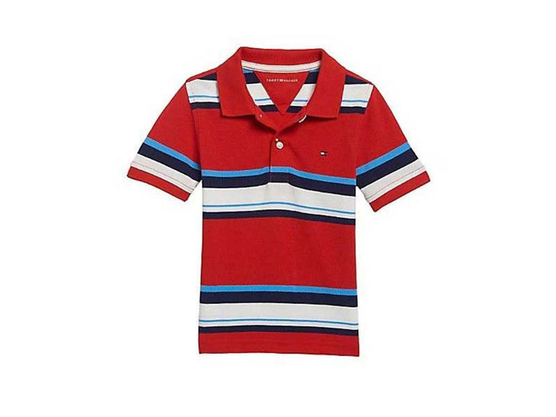 Tommy Hilfiger Little Boy's Aberdeen Red - Colorblocked Polo