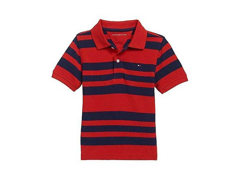Tommy Hilfiger Little Boy's Aberdeen Red Stripe Polo