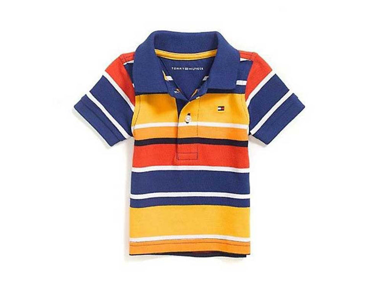 Tommy Hilfiger Little Boy's Gold Fusion - Multi Stripe Polo