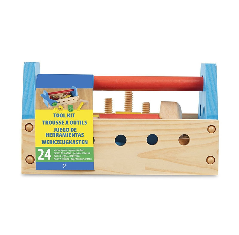 Munchkinz Wooden Multi-functional Tool Set with Maintenance Box Toy with Baby Nut Combinations