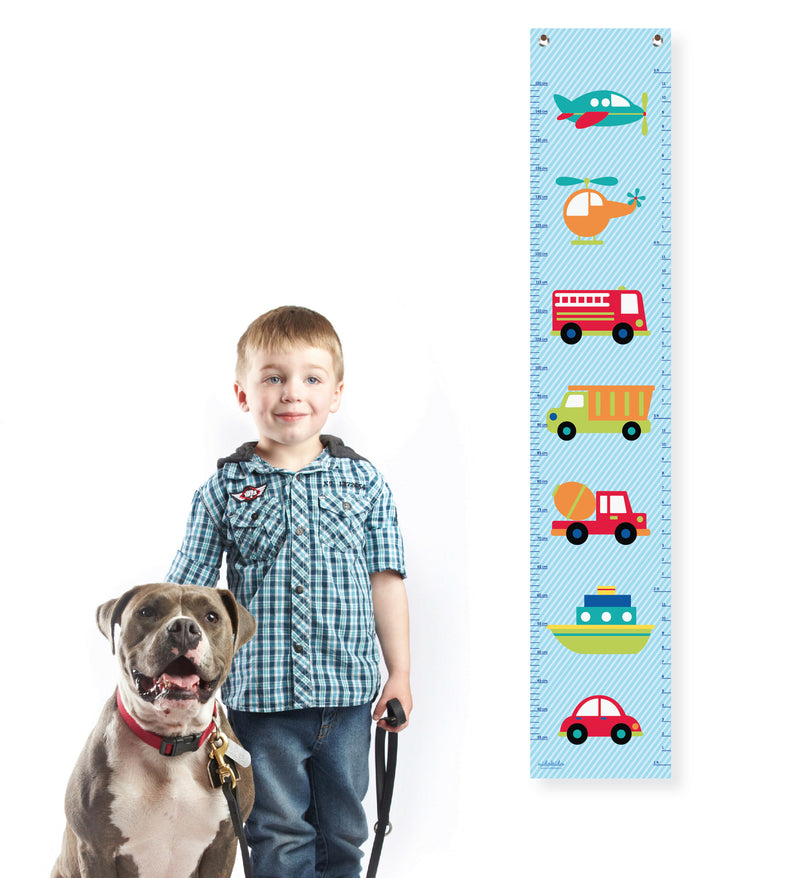 Nidokido Transport Printed Height Measurement Growth Chart