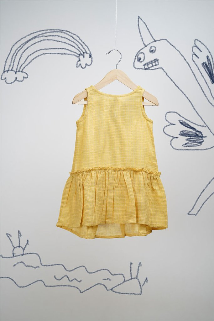 'My Yellow Unicorn' Sleeveless Dress