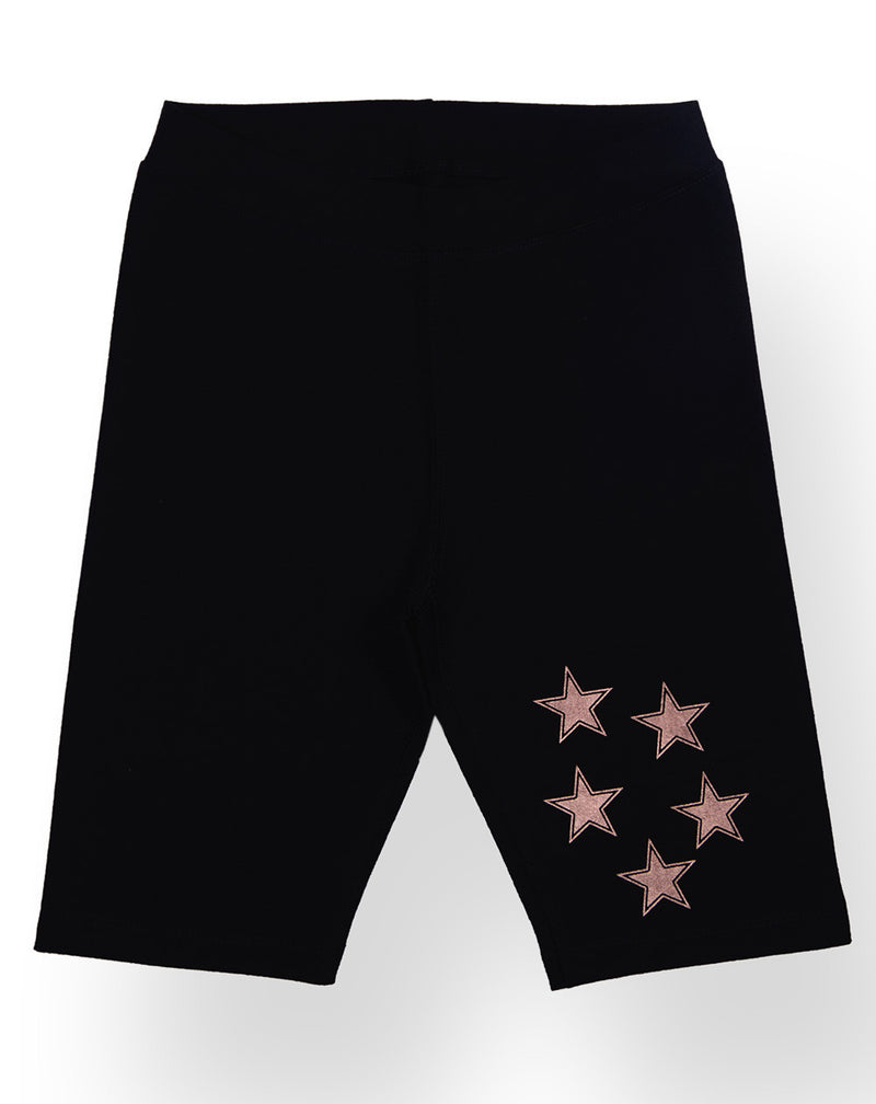 Ventra Girls Tight Knee Shorts with Stars Print