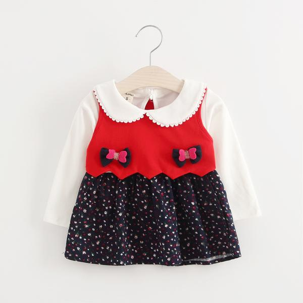 Urb N Angels Red and Blue Sweater Style Dress