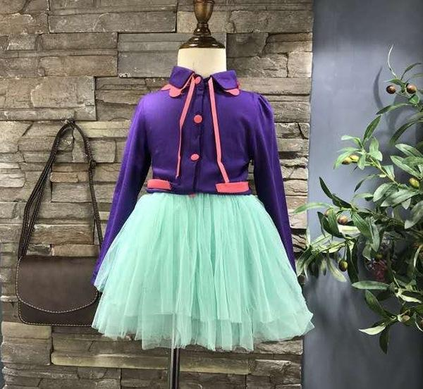 Urb N Angels Purple and Green Party Dress