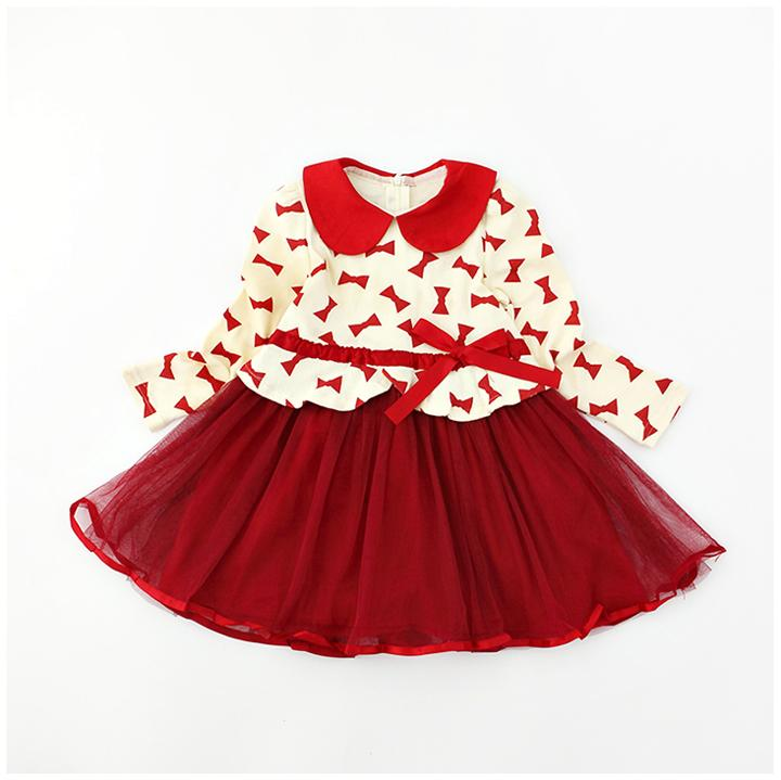 Urb N Angels Red and Beige Bow Style Dress