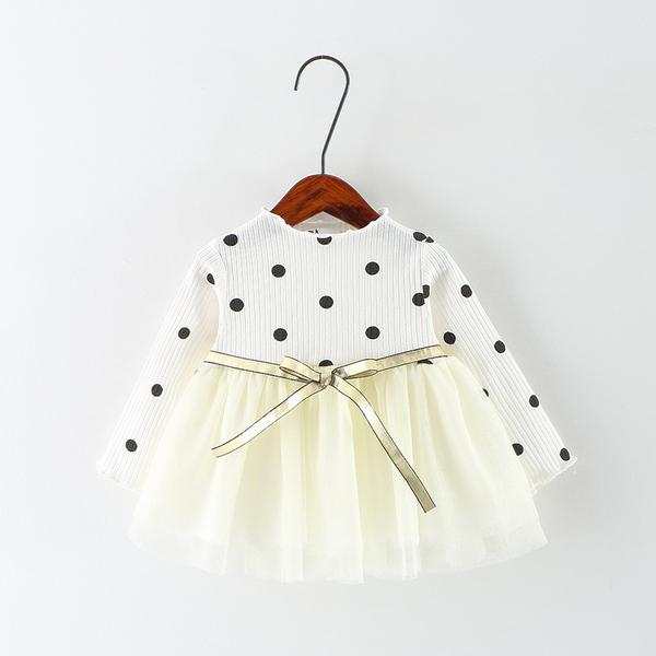 Urb N Angels White Polka Princess Dress
