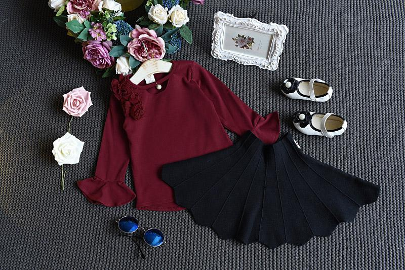 Urb N Angels Maroon Flowery Top