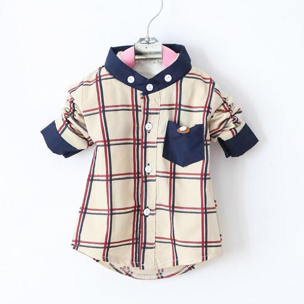 Urb N Angels Plaid Collar Shirt for Boys