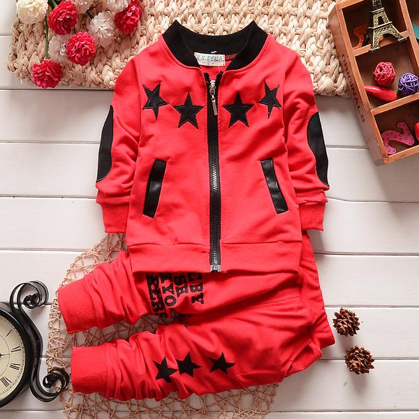 Urb N Angels Red Stary Suit for Boys