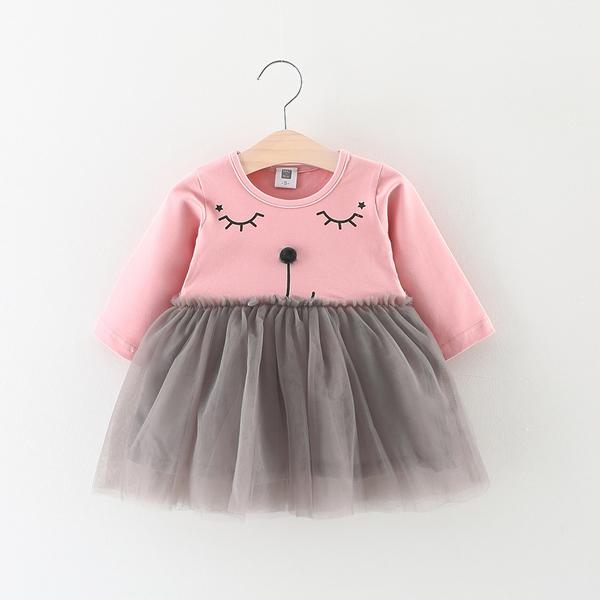 Urb N Angels Pink and Grey Dress