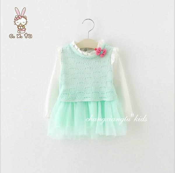 Urb N Angels Sea Green Autumn Dress