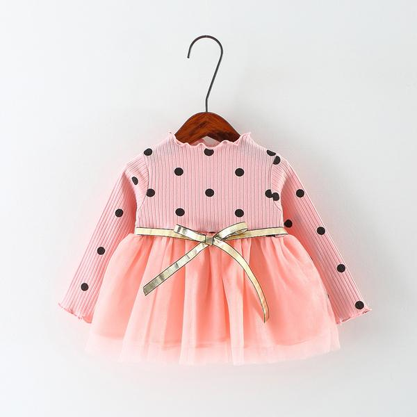 Urb N Angels Cute little Peach Dress with Golden Belt