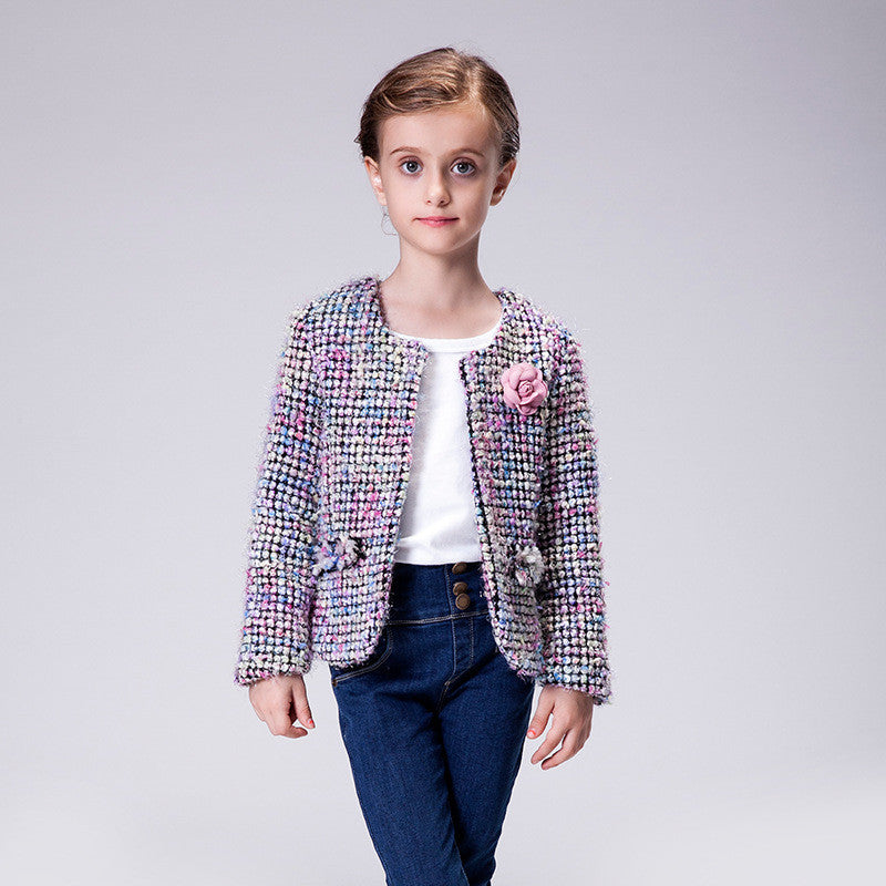 Meemu Girls' Purple Miss Fashionista Blazer
