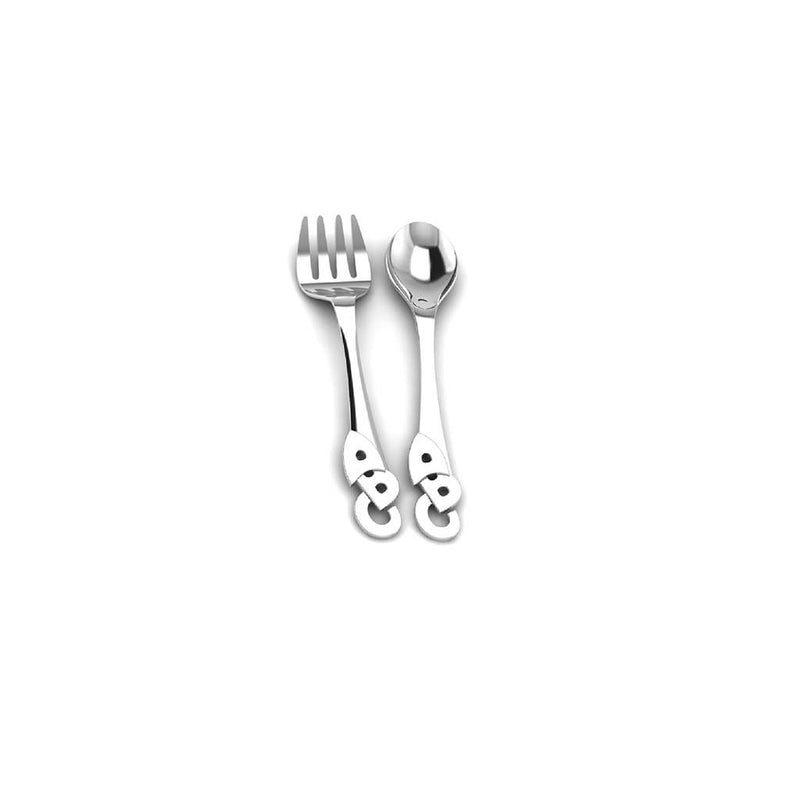 Krysaliis Silver ABC Spoon and Fork Set
