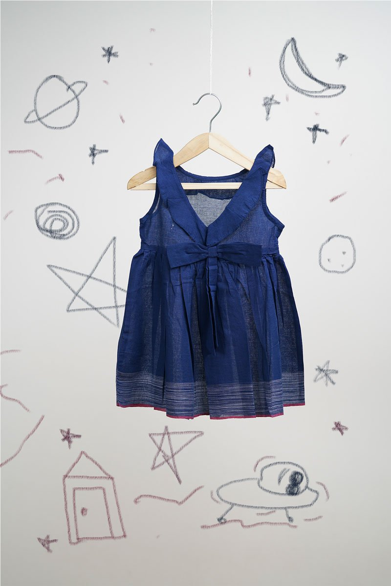Alien comes visiting Indigo Colored Dress