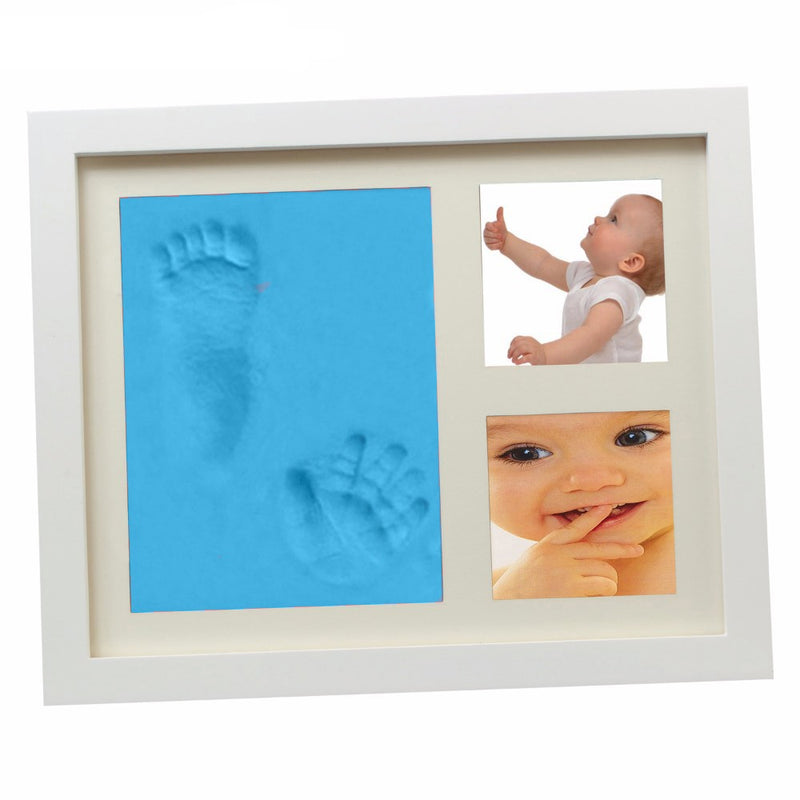 Babies Bloom Blue Charming Baby Handprint And Footprint Frame Kit
