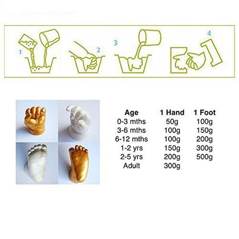 Babies Bloom Family Handprint and Footprint 3D casting kit with Wooden Photo Frame