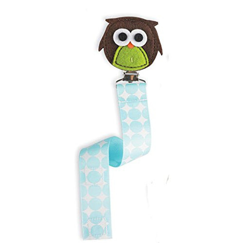 Babies Bloom Forest Friends Owl Pacifier Clip - Set of 2