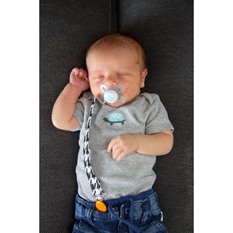 Babies Bloom Car Pacifier Clip for Baby Boy - Set of 2