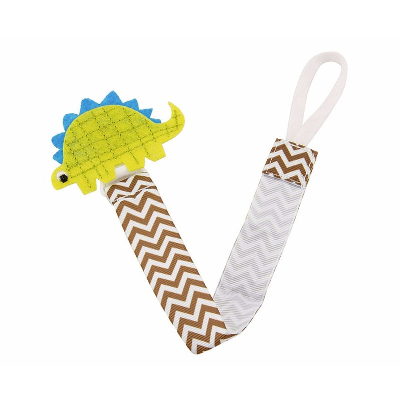 Babies Bloom Dino Pacifier Clip - Set of 2