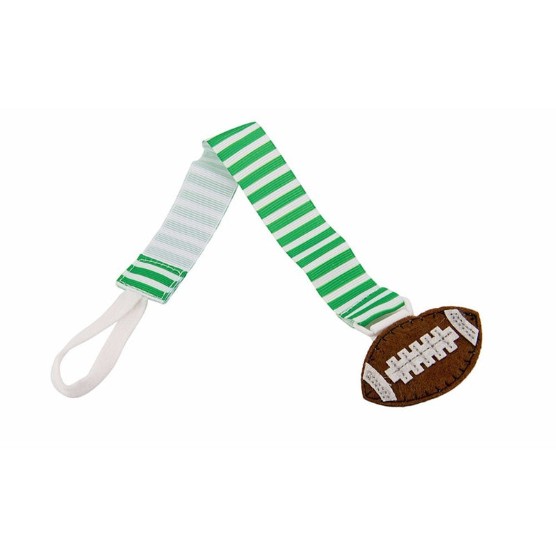 Babies Bloom Football Icon Pacifier Clip - Set of 2