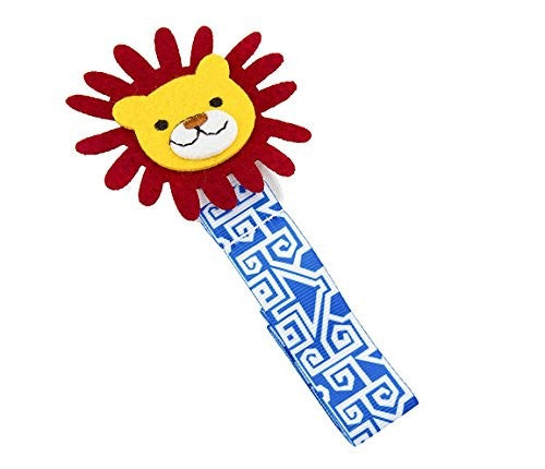 Babies Bloom Blue Lion Pacifier Clip - Set of 2