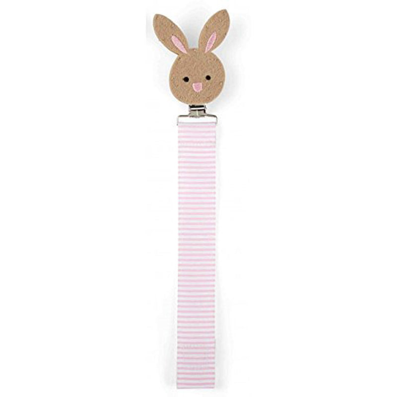 Babies Bloom Bunny Pacifier Clip - Set of 2